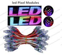 Neue DC5V 12mm WS2811 LED Pixelmodul IP68 Wasserdichte Full Color RGB String Weihnachten LED-Licht adressierbar 2811 IC Freies Verschiffen MYY