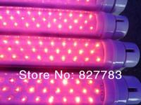 1200 ملليمتر الصمام أنابيب t8 led أنابيب مزدوجة الجانبين أدى أضواء الفلورسنت 85-265 فولت 10 قطعة / 1 وحدة الأحمر / الأزرق 7/2 شحن مجاني
