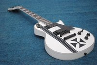 Alta calidad Custom Iron Cross SW James Hetfield Signature Guitarra Eléctrica Blancanieves