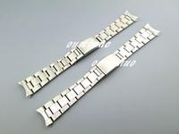 17mm o acero inoxidable 316L sólido puro extremo curvo de 20 mm NUEVA plata cepillado acabado correas de reloj pulseras de reloj Rolex usados