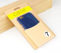 Новое Прибытие Пользовательский Логотип Крафт-Бумага Простая Упаковка Коробка для Телефона Чехол для iphone 7 7 плюс с бесплатной доставкой