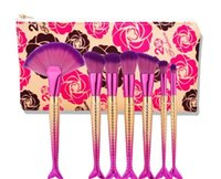 beauty and beast makeup brush sets The Beast Rose 7 pcs Merm...