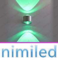 NIMI946-1 LED 2 * 1W 2W 2W LED ANCONCES DE LED SPONCES Spotlights Lumières de toile de fond Lampes d'éclairage de la lumière Balcon à la maison Salon Chambre à coucher