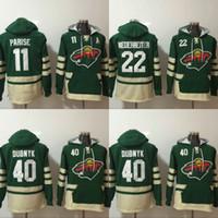 Minnesota Wild Hoodie Jersey 11 Zach Parise 20 Ryan Suter 22 Niño Niederreiter 40 Devan Dubnyk 64 Mikael Granlund Sudaderas Hockey Jerseys