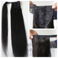 100% de queues de cheval de cheveux humains démêler les cheveux 20 22inch 100g droites brésiliennes extensions de cheveux indiens plus de couleurs