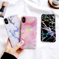 New Electroplating Bling Chrome Marble Stone Soft TPU Phone ...