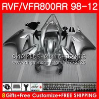 VFR800 For HONDA Interceptor red flames VFR800RR 98 05 06 07...