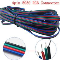 500m 4 pins LED RGB-kabelraad verlengsnoer LED-verlengkabel voor 5050/3528 LED RGB-lichtstrip