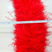 الشحن مجانا 1 قطع الأحمر النعامة الريشة بواس 12 رقائق thinckness لحفل زفاف الخياطة حدث ديكور