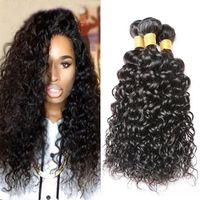 7A класс необработанные бразильские волосы вьющиеся волны перуанский малазийский Индийский Remy Virgin наращивание волос естественный цвет воды волна человеческих волос