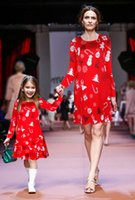 mother daughter matching christmas dresses long sleeve print...
