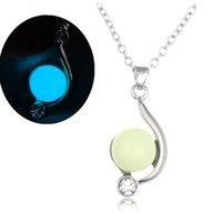 Мода натуральный светящиеся бусы кристалл кулон ожерелье г-жа подруга уникальное новогоднее ожерелье тонкой женской ключицы цепи