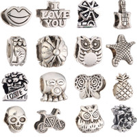 Big Hole Charms Loose Beads For European DIY Jewelry Bracele...