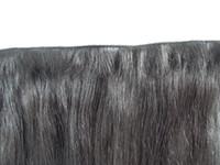 新たな到着ブラジルの手縛りストレートヘア緯糸人間の髪の伸びが未処理のダークブラウンの色