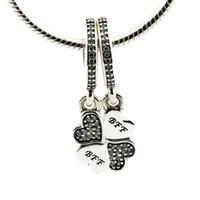 Подходит для Pandora подвески браслет оригинальный стерлингового серебра 925 бусины лучшие друзья навсегда ясно CZ мотаться кулон DIY подвески 1шт / лот