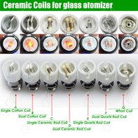 Vape Quartz Ceramic Cotton dual rebuildable atomizer coils D...