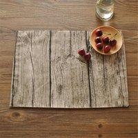 Heiße Verkäufe Deckchen Geschirr Matten Pads lebensechte Textur Bäume fotografiert Hintergrund Tuch Platzdeckchen personalisierte Servietten