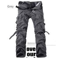 Calças Casuais dos homens de Moda Mens Carga Calças Militares Multi Bolso Calças Camuflagem Impressão Plus Size Ao Ar Livre Fredd Marshall
