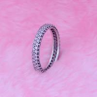 925 anéis de prata esterlina prata inspiração em dentro do anel com claro cz fit para pandora encantos jóias mulheres diy moda dedos anel novo
