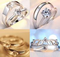 Anelli di coppia Diamante Diamante S925 PT Wedding Fashion Engagement Anniversario Commercio all'ingrosso Collana Torque Solitaire Lady Designer Regno Unito Rock Crystal Donne Paris EUR US