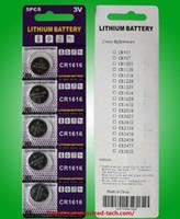 1000pcs CR1616 3V 리튬 버튼 셀 배터리 블리스 터 카드 포장 당 5pcs