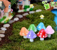 Гриб миниатюрные фея фигурки сад гномы decoracion jardin гриб сад украшения смолы ремесло микро пейзаж