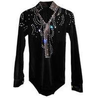 Uomo / Ragazzo Vestito da Ballo Latino Camicia di Velluto di Alta QualitàDiamond Uomo Vestido De Baile Latino Dancewear Samba / Waltz / Ballo da Ballo Top