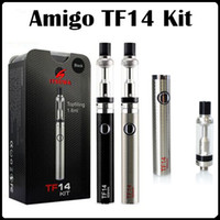 Authentique Amigo TF14 Kit Topfilling Verre Vaporisateur 650mAh Ego Thread Batterie Noir Argent Disponible E Cigarette Kits