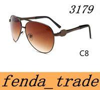 Marca homens e mulheres óculos de sol retro nova cor de metal brilhante de alta-grade óculos de sol grande quadro óculos de sol 3179 cores 10 Qualidade A +++ M0Q = 10