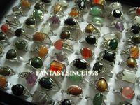 Gli anelli all'ingrosso del partito dei monili di modo della lega del metallo della pietra della lega 30pcs dei lotti misti all'ingrosso di vendita brandnew