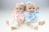 8 pulgadas LifeLike Reborn Baby Doll Mini Realista Full Vinyl Handcraft Newborn Kids Regalo de Navidad