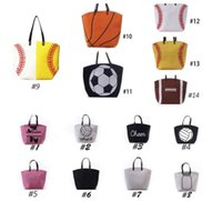 wholesale new outdoor bags Canvas Bag Baseball Tote Sports B...