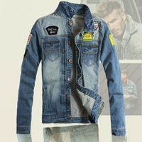 2016 Yeni Varış Erkek Bahar Ceketler Yüksek Qualtiy Erkek Denim Ceket Vintage Jean Ceket Marka Büyük Boy Ceket Ceket Sıcak Satış