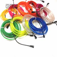 Universal Car- styling 3 Meters flexible neon light glow el w...