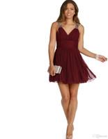 2019 Sexy Borgogna Brevi Abiti Homecoming Keyhole Backless Bordare Chiffon di Cristallo Breve 8 ° Grado di Laurea Festa Prom Dress Personalizzato