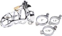 Metall männlich Keuschheitskäfig Gerät Gürtel Zurückhaltung CBT Lock Bondage Fetisch ZCS7 # R52