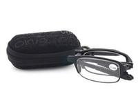 2016 년 큰 할인 휴대용 접히는 TR90 구조 수지 렌즈 독서 용 안경 상자를 가진 연장자 독자를위한 UV 보호