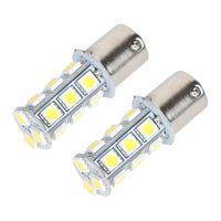LED Araba Ampul 1156 BA15S 18SMD 5050 12 V Saf / Soğuk / Sıcak Beyaz LED Ampul Köşe Yedekleme Kuyruk Park Işık Evrensel LED Lamba