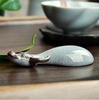 heißer Verkauf purpurroter Lehm glückliches Vieh chinesisches Teehaustier kreatives Design ru Brennofen bester Inneneinrichtungsteezusatz T153