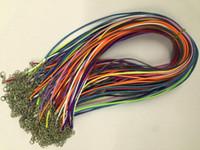 무료 배송 100pcs 16-18 인치 혼합 색상 조정 가능한 1.5mm 한국 왁스면 목걸이 코드 랍스터 걸쇠 및 확장 체인