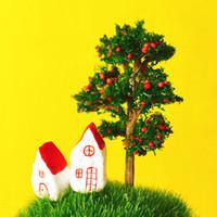 24 Pcs / artificial fruteira / vermelho / miniaturas / plantas cute / fada do jardim gnome / musgo terrário decoração / artesanato / bonsai / garrafa de jardim / p011