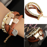 Charm Leather Cute Infinity Charm Heart Wrap Women Bracelet ...