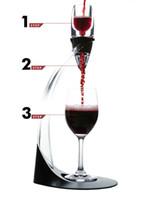 Eco Friendly Deluxe Vin Aérapeur Tour Ensemble Red Vin de vin Accessoires Magic Secanter rapide avec boîte-cadeau Crystal Acrylics en gros ZA1009
