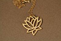 Hot vente hippie chic grand lotus pendentif goutte collier bohème mode femmes Neclaces 2016 ms mince collier