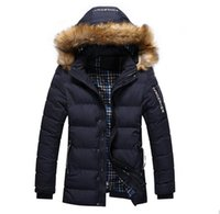 2016 Nouvelle arrivée solide Confortable causales Manteau chaud Homme Mode matelassée à capuche vêtements d'hiver épais manteau pour hommes