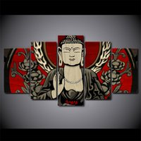5 Paneli HD Baskılı Çiçek Buda Meditasyon Zen Resim Wall Art Canvas Dekor Poster Kanvas Özet Yağlıboya Resim