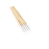 Cepillo de uñas Cepillos de silicona Modelado 5 sets / lot 5 fotos / set Nail Art Pen Brush Cepillos de uñas Madera fina