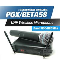 Microfono Ücretsiz Kargo! PGX PGX24 BETA58 UHF Karaoke Kablosuz Mikrofon Sistemi Ile Süper Kardioid BETA El Mikrofonu Microfono Mic