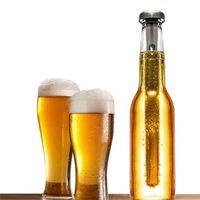 Nouvelle Arrivée En Acier Inoxydable Vin Liqueur Refroidisseur De Glace Bâton Baguette En Verre De Bouteille De Bière Refroidisseur De Bière Refroidissement Alcool Glace Boissons Vin Vin Froid