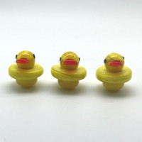 New Glass Carb Caps Yellow Duck Style UFO Cap With 25mm OD f...